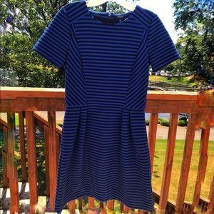 Madewell Blue/Black Striped Dress Size 4